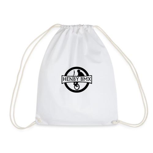Plain Man's T-Shirt (Official HenbyBMX Logo) - Drawstring Bag