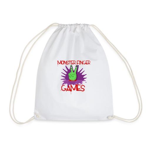 Monster Finger Games Logo - Drawstring Bag