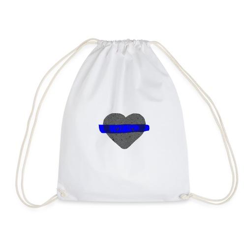 serduszko blu - Worek gimnastyczny