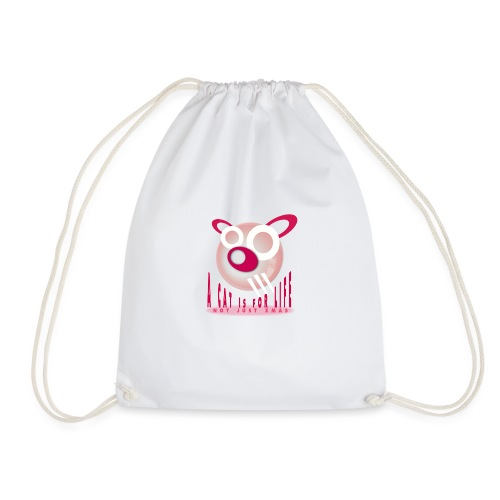 A Cat is For Life - Drawstring Bag