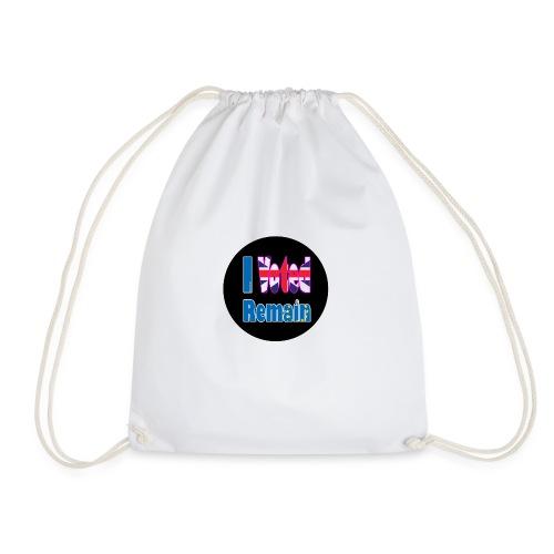 I Voted Remain badge EU Brexit referendum - Drawstring Bag
