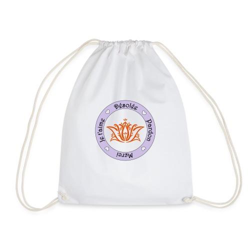 Tee shirt Bio Femme Ho oponopono - Drawstring Bag