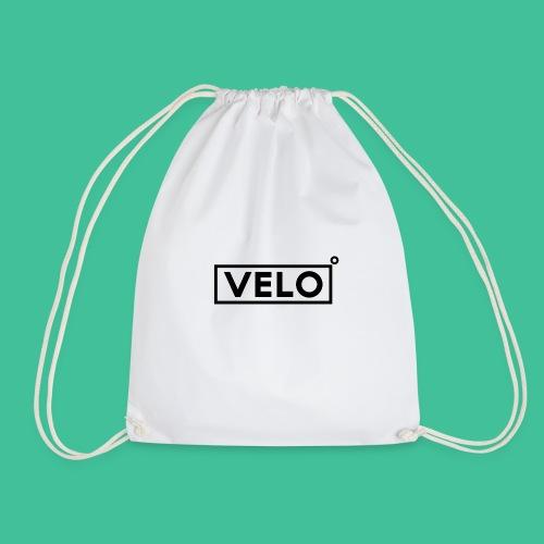 Velo Icon Blk - Long Sleeve Baseball Shirt W/N Clr - Drawstring Bag