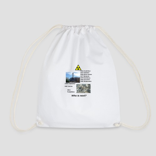 no nuclear button Who is next? - Drawstring Bag