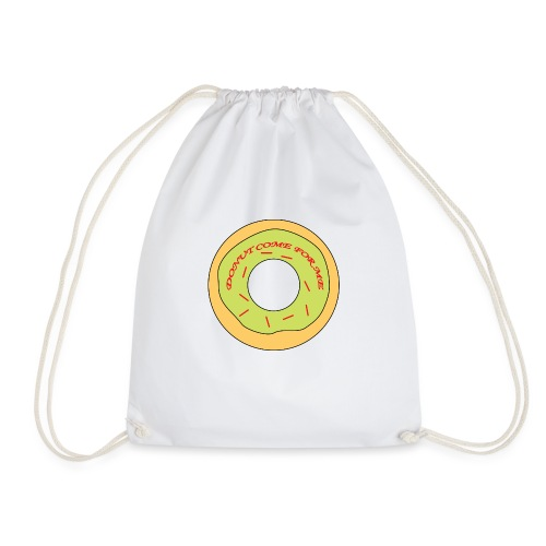 Donut Come For Me Red - Drawstring Bag