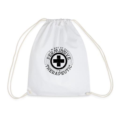 I'm Not Permissive (White) - Drawstring Bag
