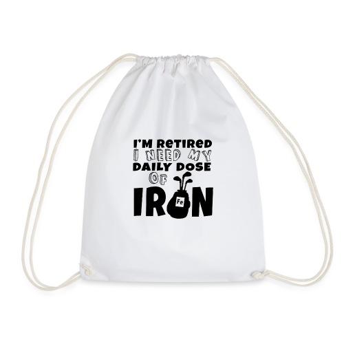 Retired Golfer - Drawstring Bag