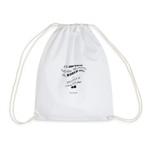 A_Lie-- - Drawstring Bag
