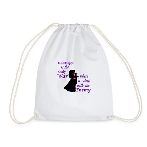 marriage_funny tshirts - Drawstring Bag