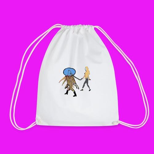 walk your fish - Drawstring Bag