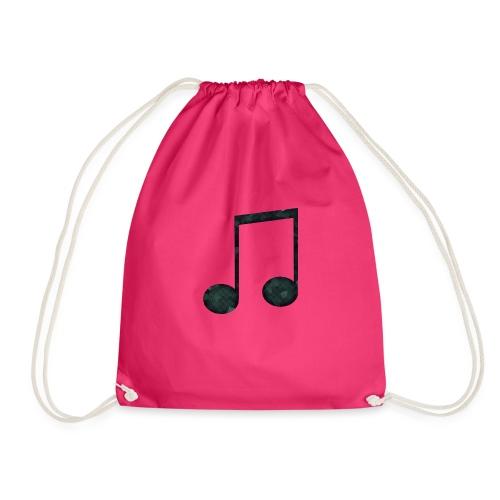 Low Poly Geometric Music Note - Drawstring Bag