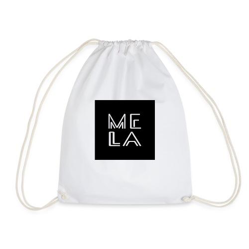 Mela Svart Logo - Gymbag