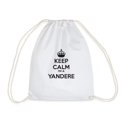 Yandere keep calm - Drawstring Bag