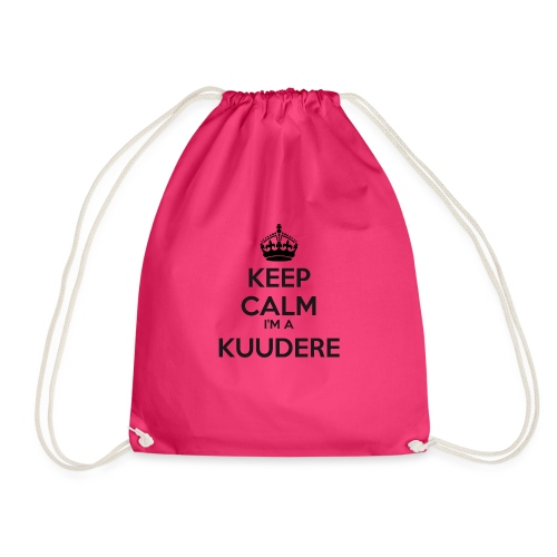 Kuudere keep calm - Drawstring Bag