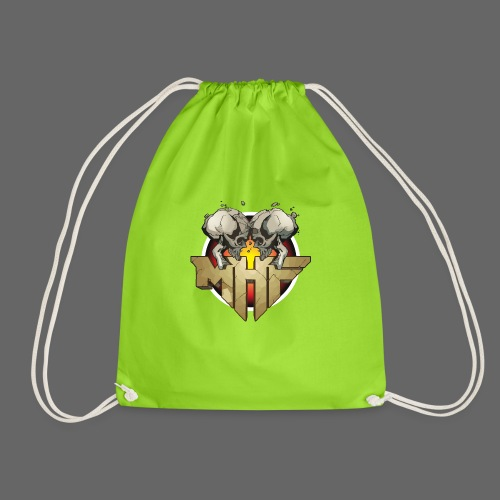 new mhf logo - Drawstring Bag