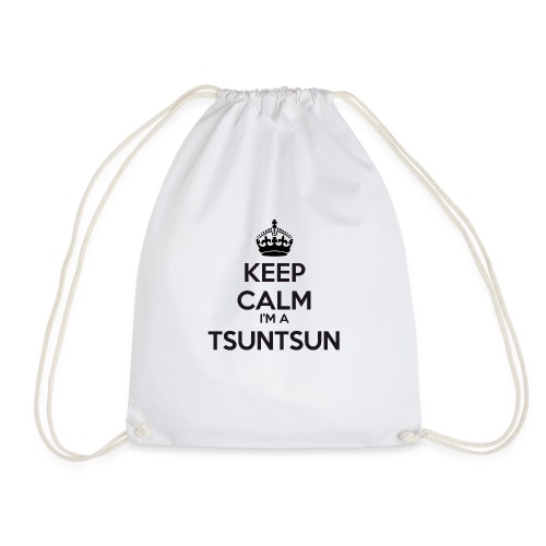 Tsuntsun keep calm - Drawstring Bag