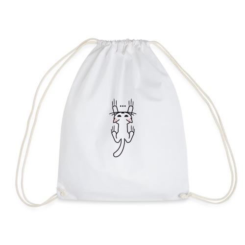 Kitty scratch hanging - Drawstring Bag
