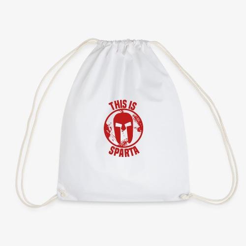 this is sparta - Drawstring Bag
