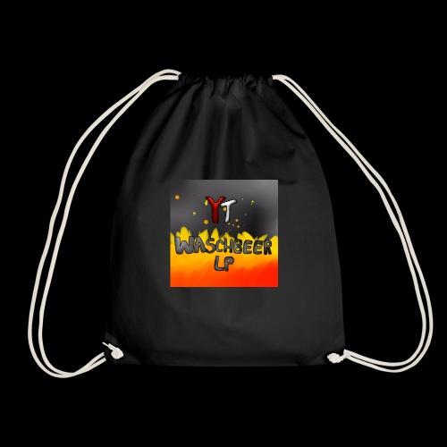 Waschbeer Design 2# Mit Flammen - Turnbeutel