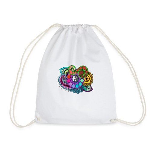 Coloured Nature Mandala - Drawstring Bag