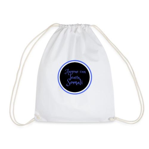 Anyone can learn Somali Tshirt art - Drawstring Bag