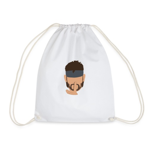 Solid Snake Simplistic - Drawstring Bag