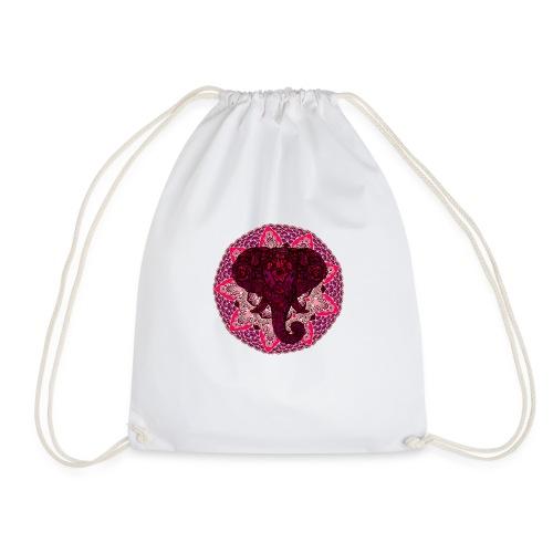 Henna Elephant Mandala - Drawstring Bag