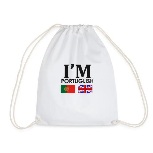 Portuguese + English = - Drawstring Bag
