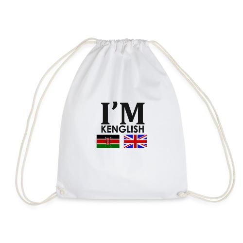 Kenyan + English = - Drawstring Bag