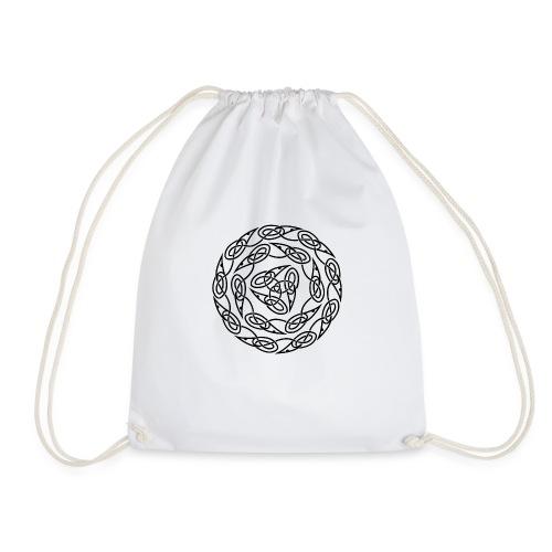 Triquetra circles - Drawstring Bag