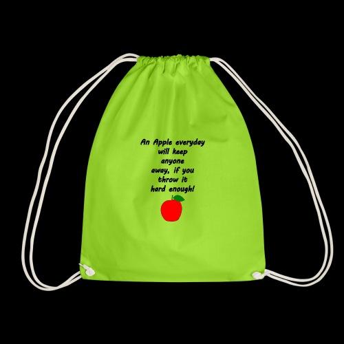 Apple Apfel Doctor Zitat Spruch Lustig - Turnbeutel