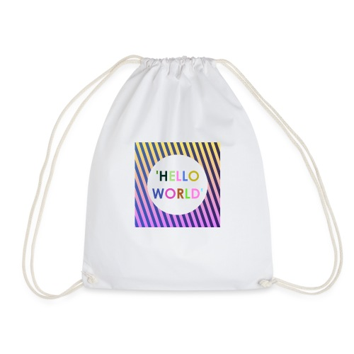 HelloWorld - Drawstring Bag