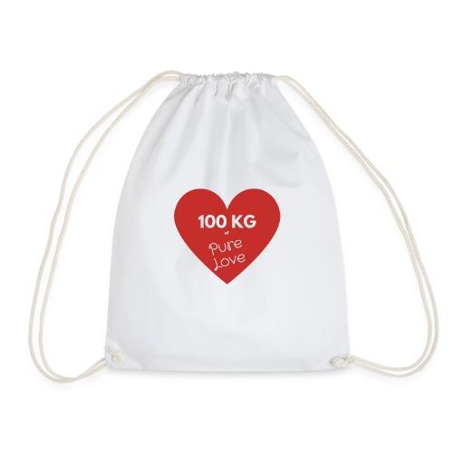100 kg of pure love - Drawstring Bag
