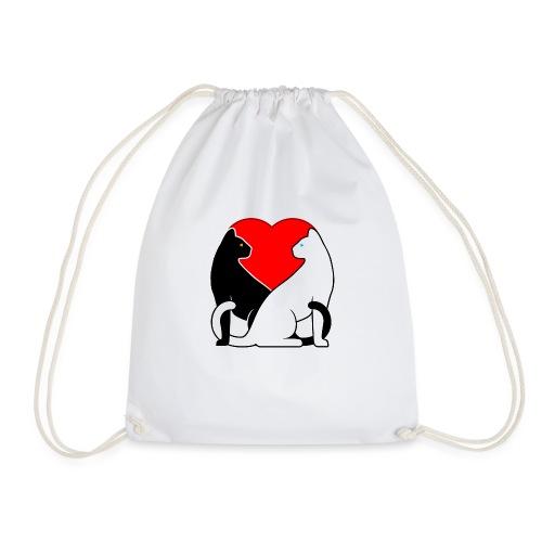 Cats in Love - Drawstring Bag
