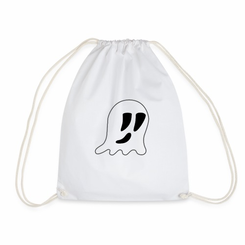 Cartoon Ghost - Drawstring Bag