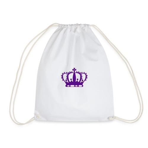 Purple Crown - Drawstring Bag