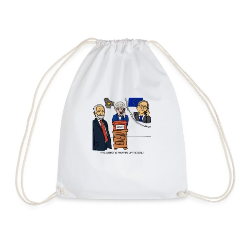 The Cabinet is Propping up the Deal - Drawstring Bag