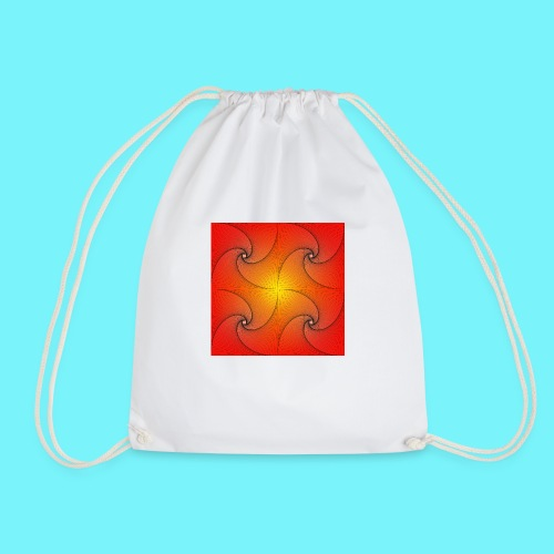 Pursuit curve in red and yellow - Drawstring Bag
