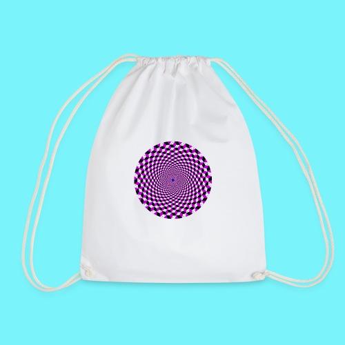 Mandala figure from rhombus shapes - Drawstring Bag