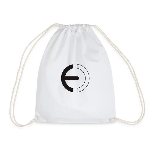 logo black only - Drawstring Bag
