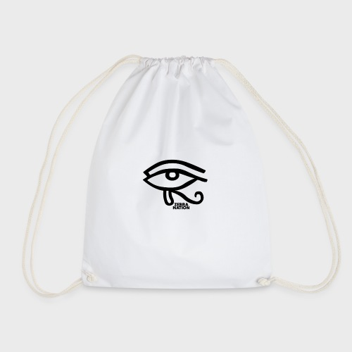 Zebra Nation (zebra n' Eye Black) - Drawstring Bag