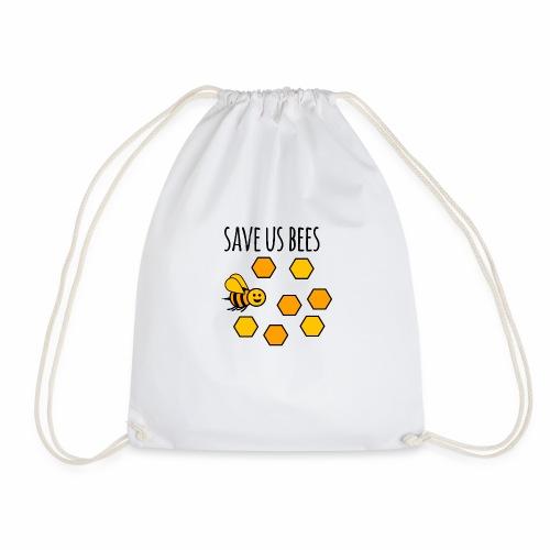 save us bees 2 - Drawstring Bag