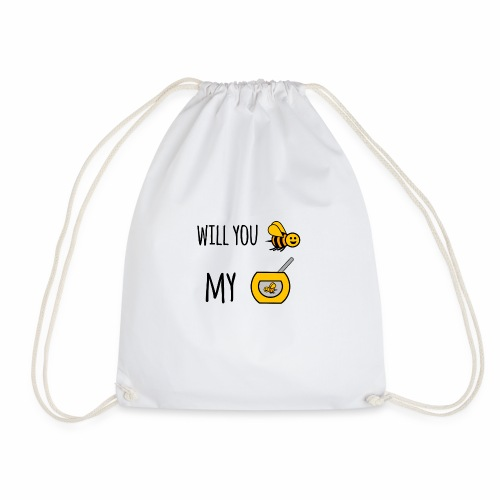 Will you bee my honey - Drawstring Bag