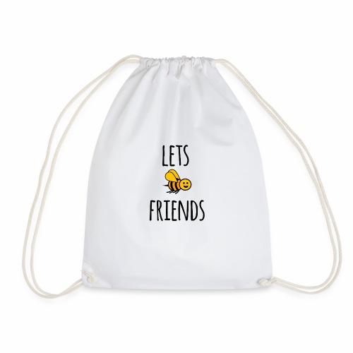 Lets bee friends - Drawstring Bag