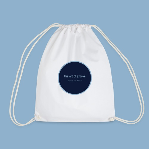 the art of groove - Drawstring Bag