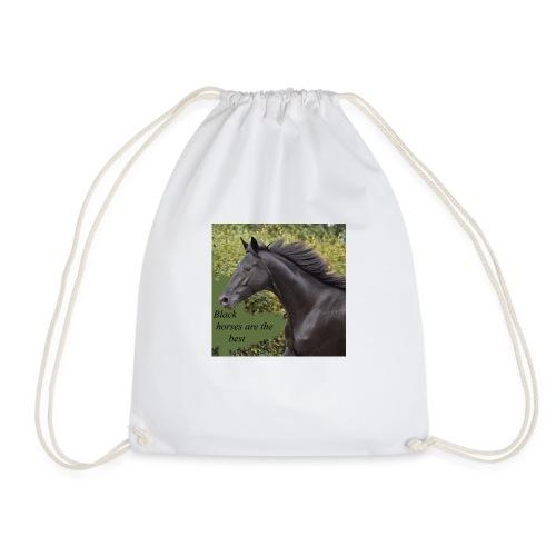 Black horses are the best - Turnbeutel