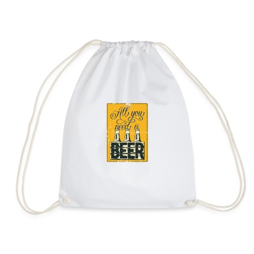 All you need is Beer - Turnbeutel