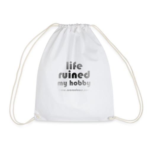 life ruined my hobby faded - Drawstring Bag
