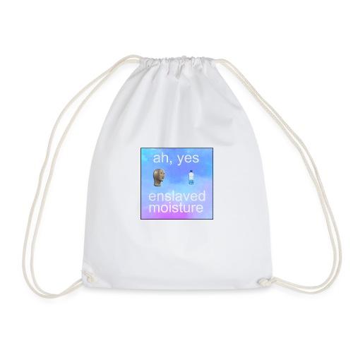 ah yes enslaved moisture meme - Drawstring Bag