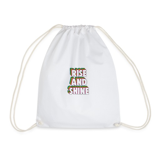Rise and Shine Meme - Drawstring Bag